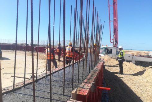 Construction des bacs de stockage au PFC, OCP,